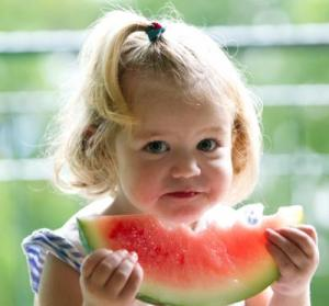 girl-eating-watermelon